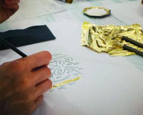 Geometric design and calligraphy on gold leaf _Thumbnail.jpg